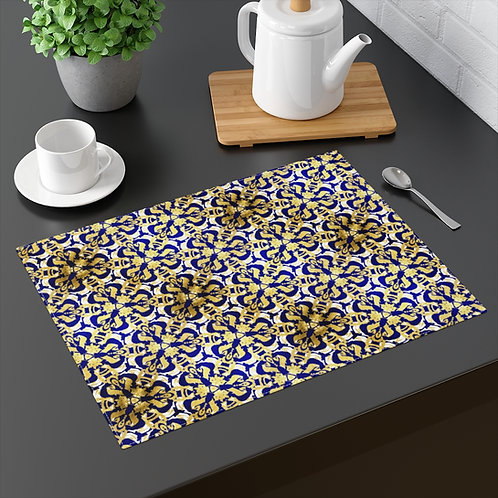 Gold and Emerald Blue Placemat