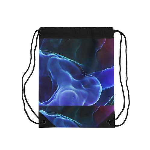 Blue Smoke Drawstring Bag