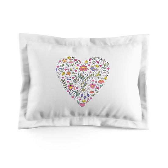 5 Hearts Microfiber Pillow Sham