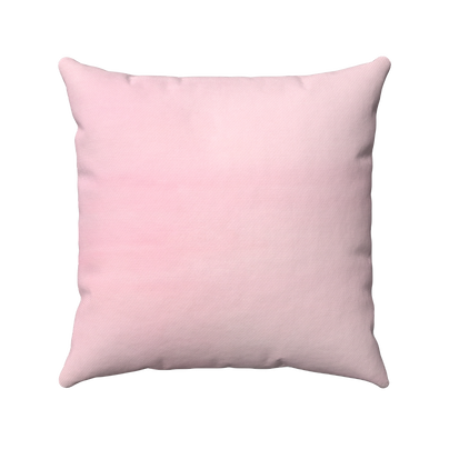 Solid Pink Spun Polyester Square Pillow