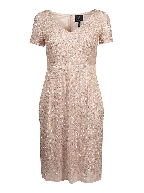 Adrianna Papell Hammered Sequin Dress
