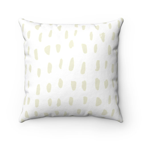 Abstract Lite Spun Polyester Square Pillow