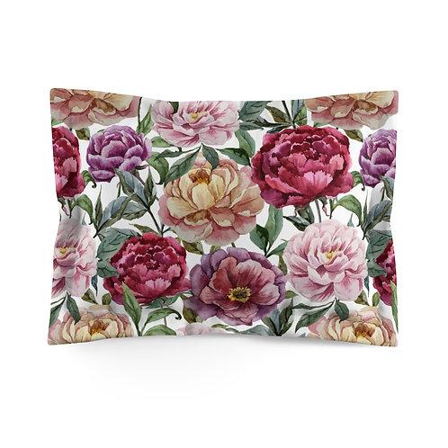 Classic Rose Garden Microfiber Pillow Sham