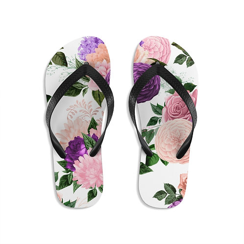 Peony Garden Flip-Flops