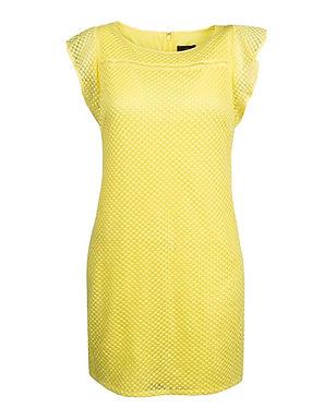 Adrianna Papell Diamond Ruffled Day Dress