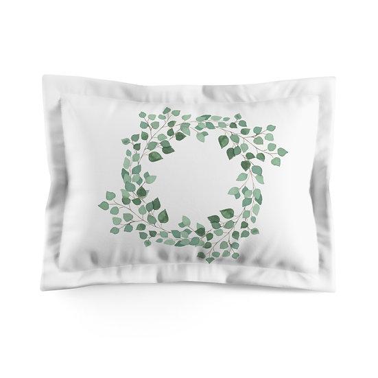 Leaves. Wreath Microfiber Pillow Sham
