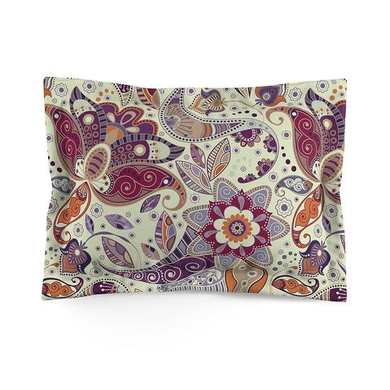 Natural Paisley Microfiber Pillow Sham