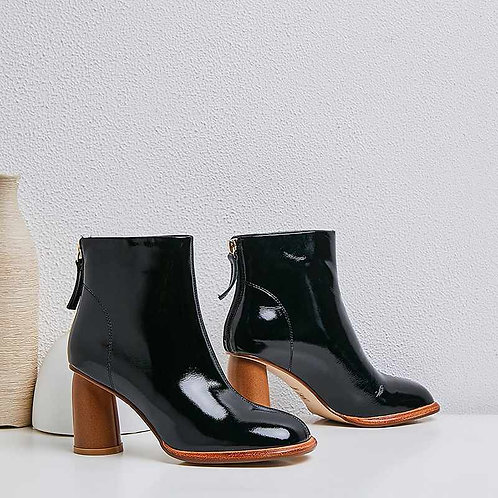 Genuine leather Ankle zip Boots