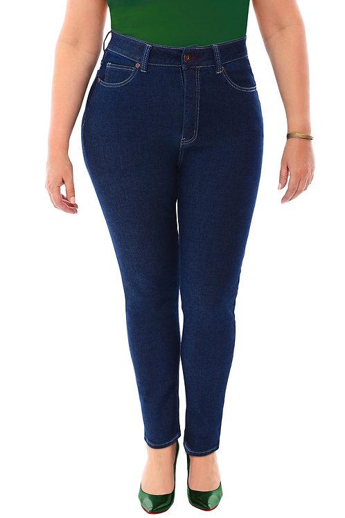 360 Stretch High Rise Ultra Skinny Denim Jeans (Jeggings) in Blue Depths