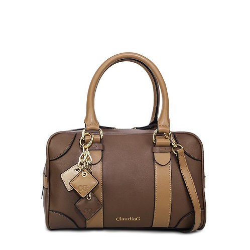 Carlotta Leather Handbag - Chocolate / Caramel
