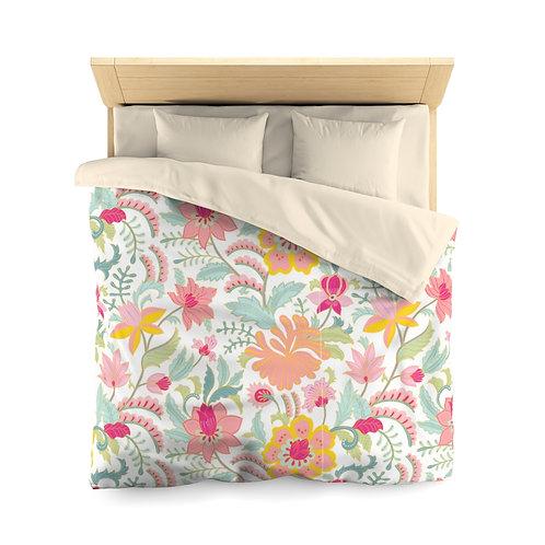 Blooming Pastels Microfiber Duvet Cover