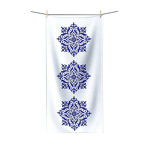 Blue Dutch Polycotton Towel