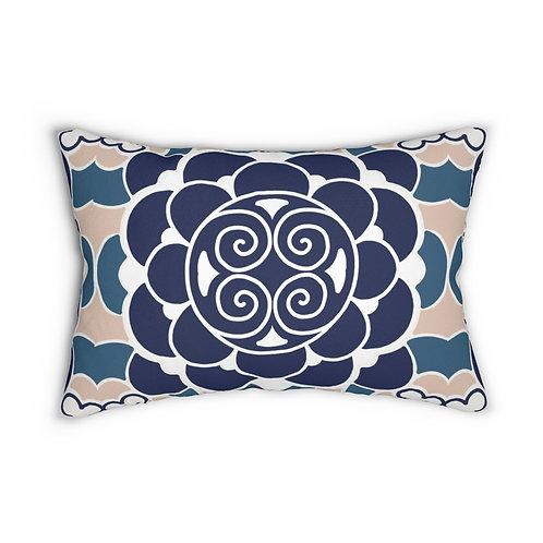 Japanese #7 Spun Polyester Lumbar Pillow