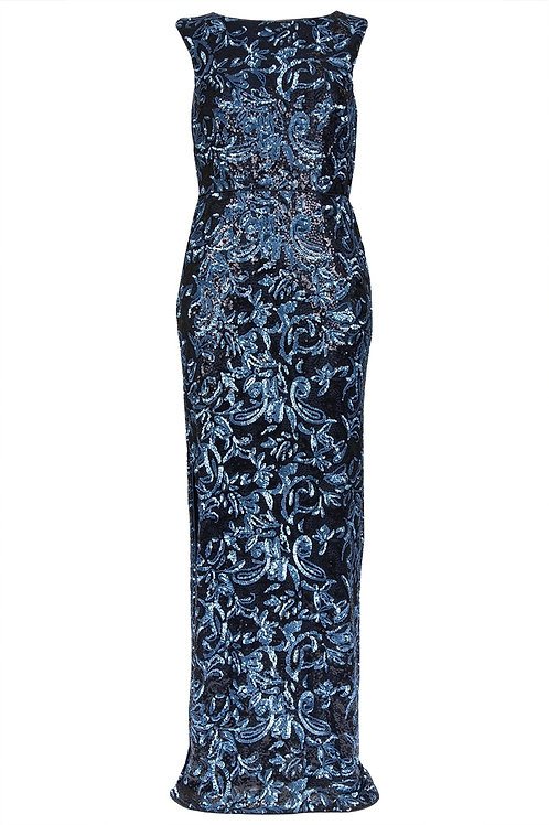 Aidan Mattox Sequin Embellished Gown