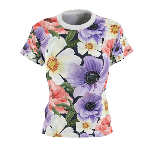 Floral Multicolor Women's AOP Cut & Sew Tee