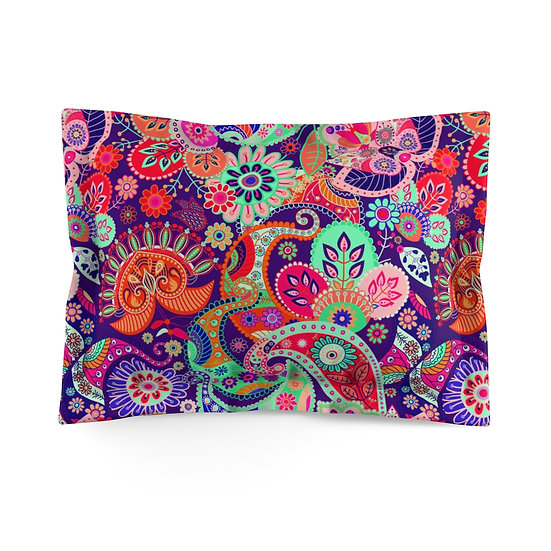 Groovy Garden Microfiber Pillow Sham