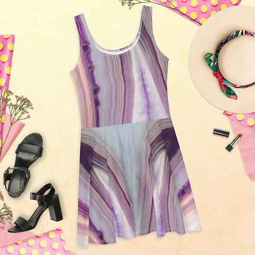 Geodes Lavender Skater Dress