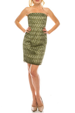Adrianna Papell Sea Strapless Sequined Lace Sheath Dress