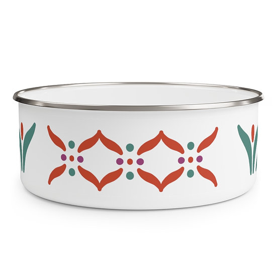 Indian Design #3 Enamel Bowl