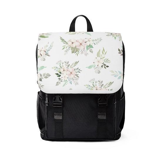 Light Floral Casual Shoulder Backpack