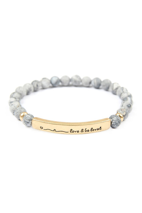 83589 - Love and Be Loved Natural Stone Stretch Bracelet