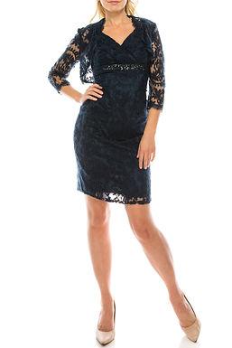 Adrianna Papell Day Surplice Neck Sleeveless Embellished Empire Waist