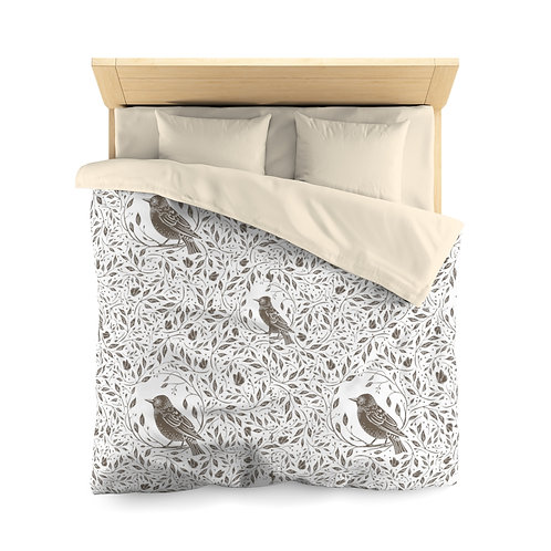 Birds Microfiber Duvet Cover