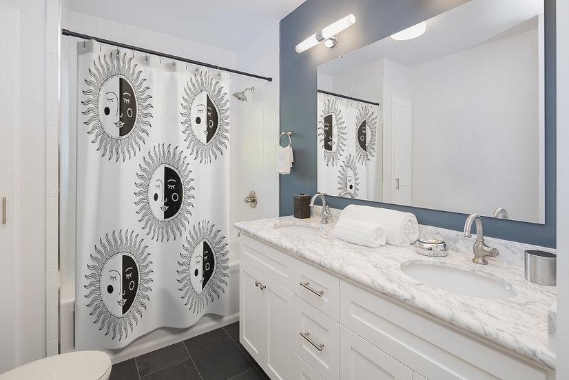 Luna Sun Shower Curtains