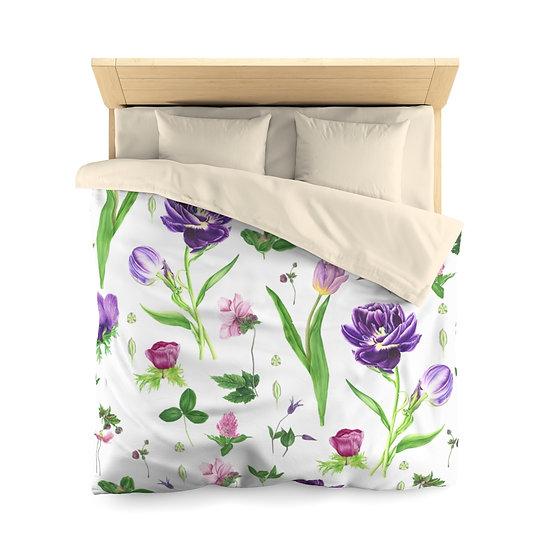 Tulip Garden Microfiber Duvet Cover (Queen Only)