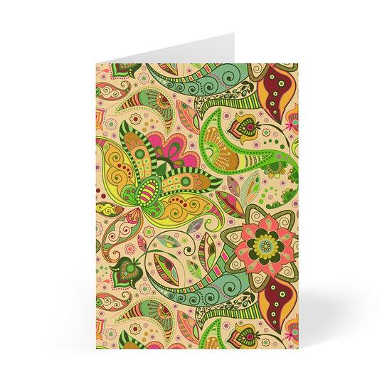 Paisley Gold Greeting Cards (8 pcs)
