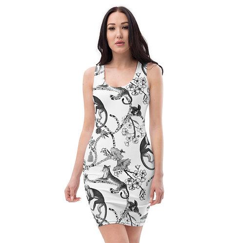 Black Jungle Toile Dress