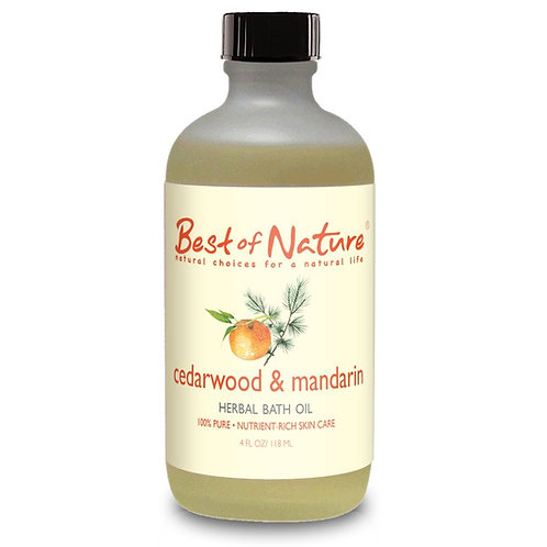 Cedarwood & Mandarin Bath Oil