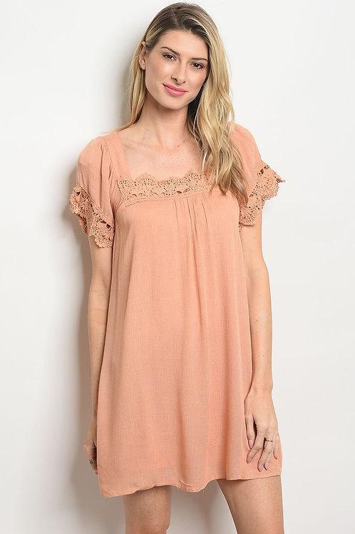 Apricot Lace Dress