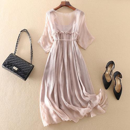 Vintage 2020 100% Real Silk Dress