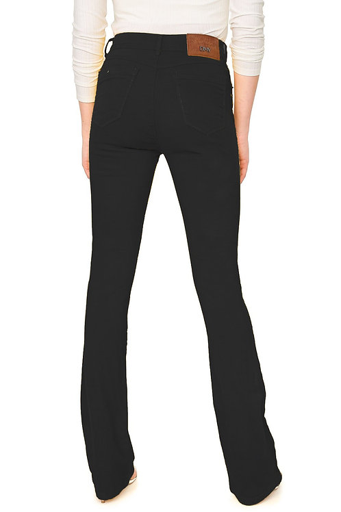 BLACK BOOT CUT PANTS