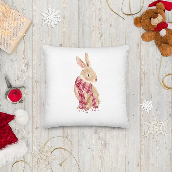Christmas Bunny Premium Pillow