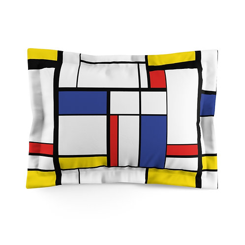 Color Abstract Microfiber Pillow Sham