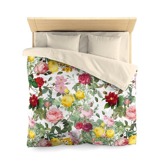 Colorato Giardino di Rose (Colorful Rose Garden) Microfiber Duvet Cover