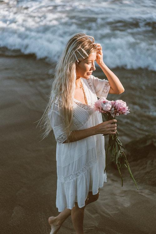 Bora Bora Lace and Cloth Short White Dress
