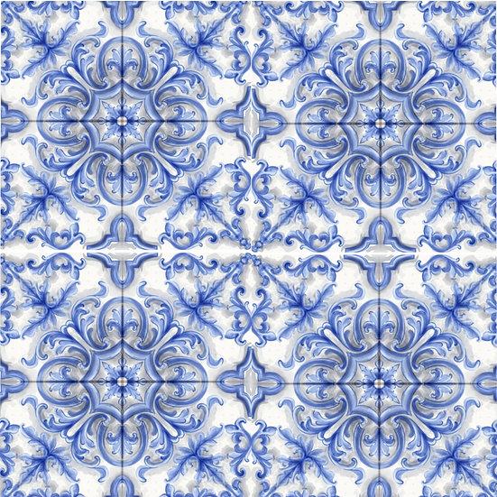 Dutch Blue Tile Microfiber Duvet Cover
