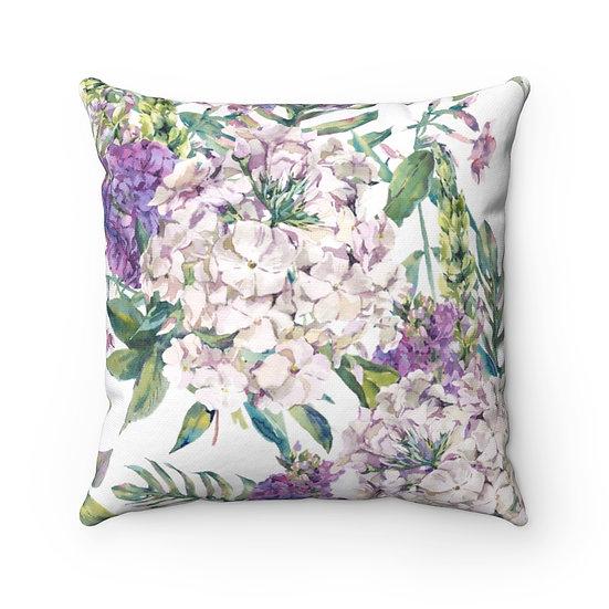 Lilac Garden Spun Polyester Square Pillow