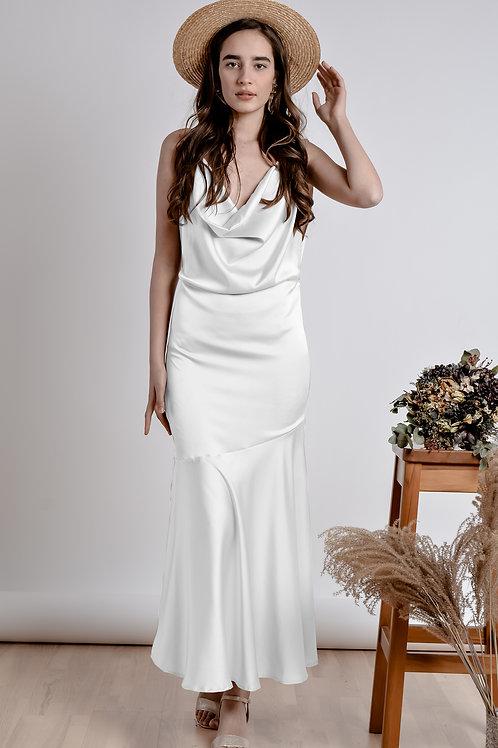 White Bareback Dress - Bastet Noir