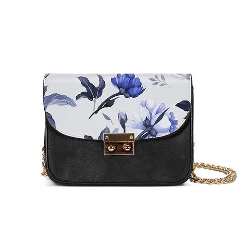 Blue Flower Small Shoulder Bag