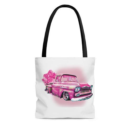 Pink '48 Truck Tote Bag
