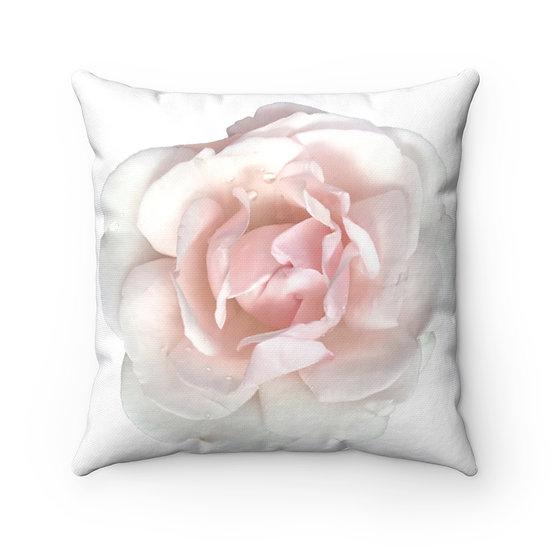 Blush Rose Polyester Square Pillow