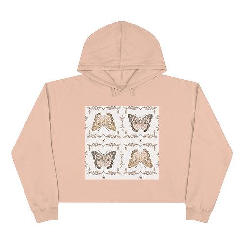 4 Butterflies Crop Hoodie
