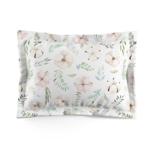 Blush Petals Microfiber Pillow Sham