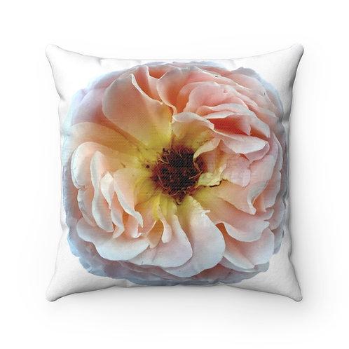 Blush Ranunculus Spun Polyester Square Pillow