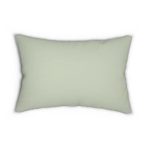 Peacock Flower Jungle Collection Spun Polyester Lumbar Pillow