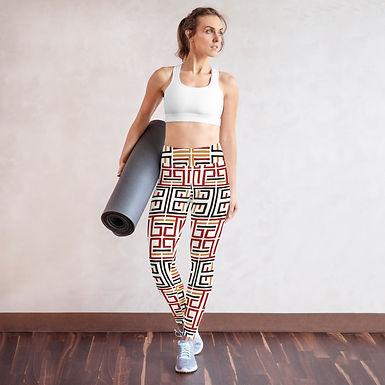 African Tile Yoga Leggings